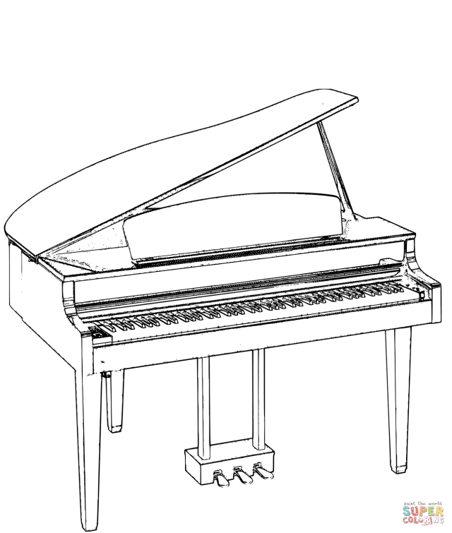Grand Piano coloring page  Free Printable Coloring Pages