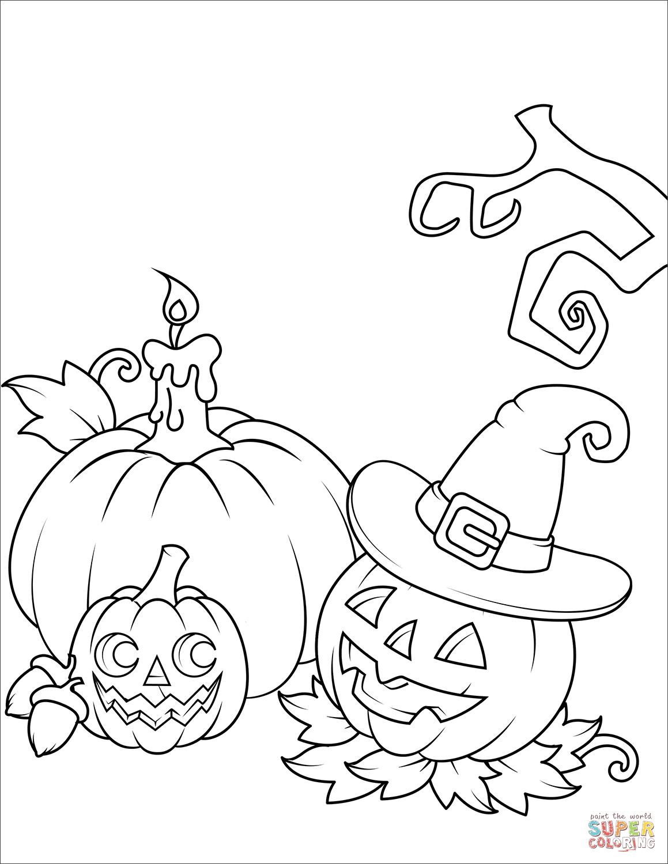 Jack O Lanterns Coloring Page