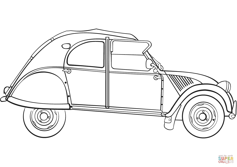 Disegno Di Citroen 2cv Da Colorare