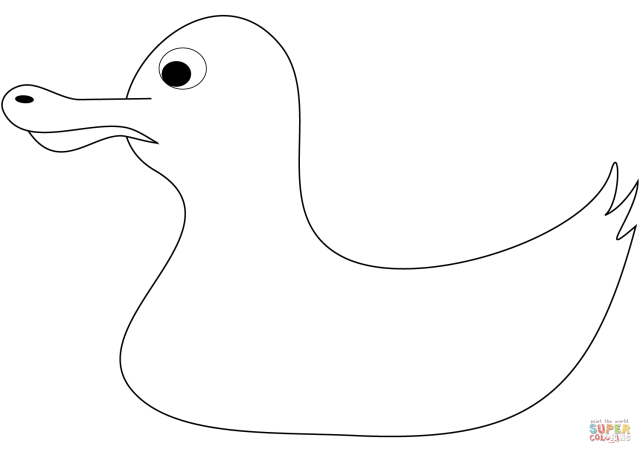 Rubber Duck coloring page  Free Printable Coloring Pages