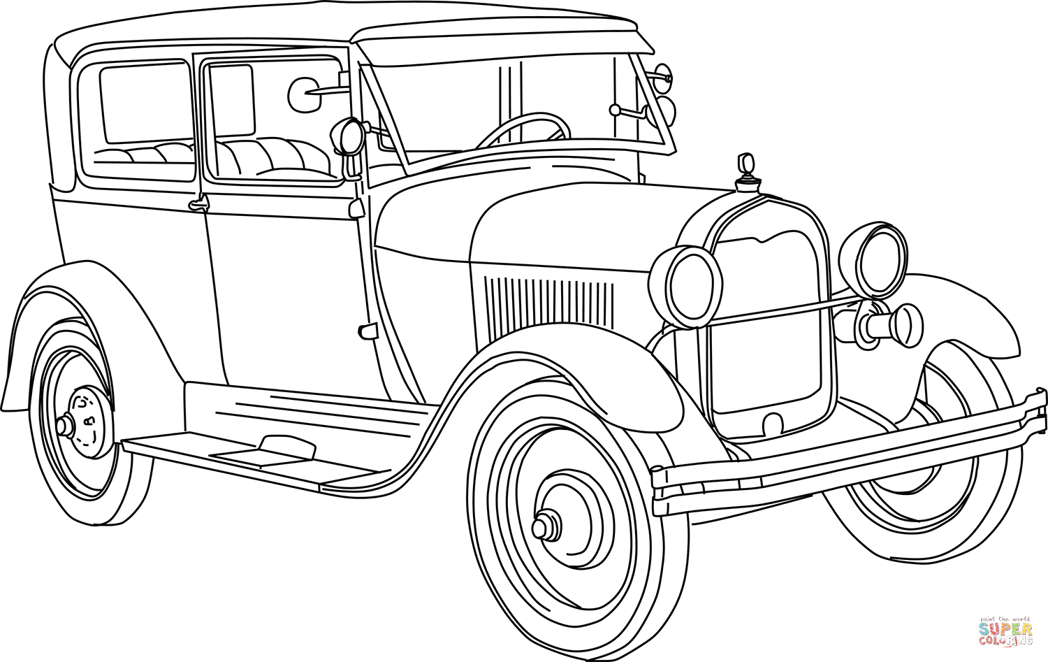 Ford Model A Coloring Page