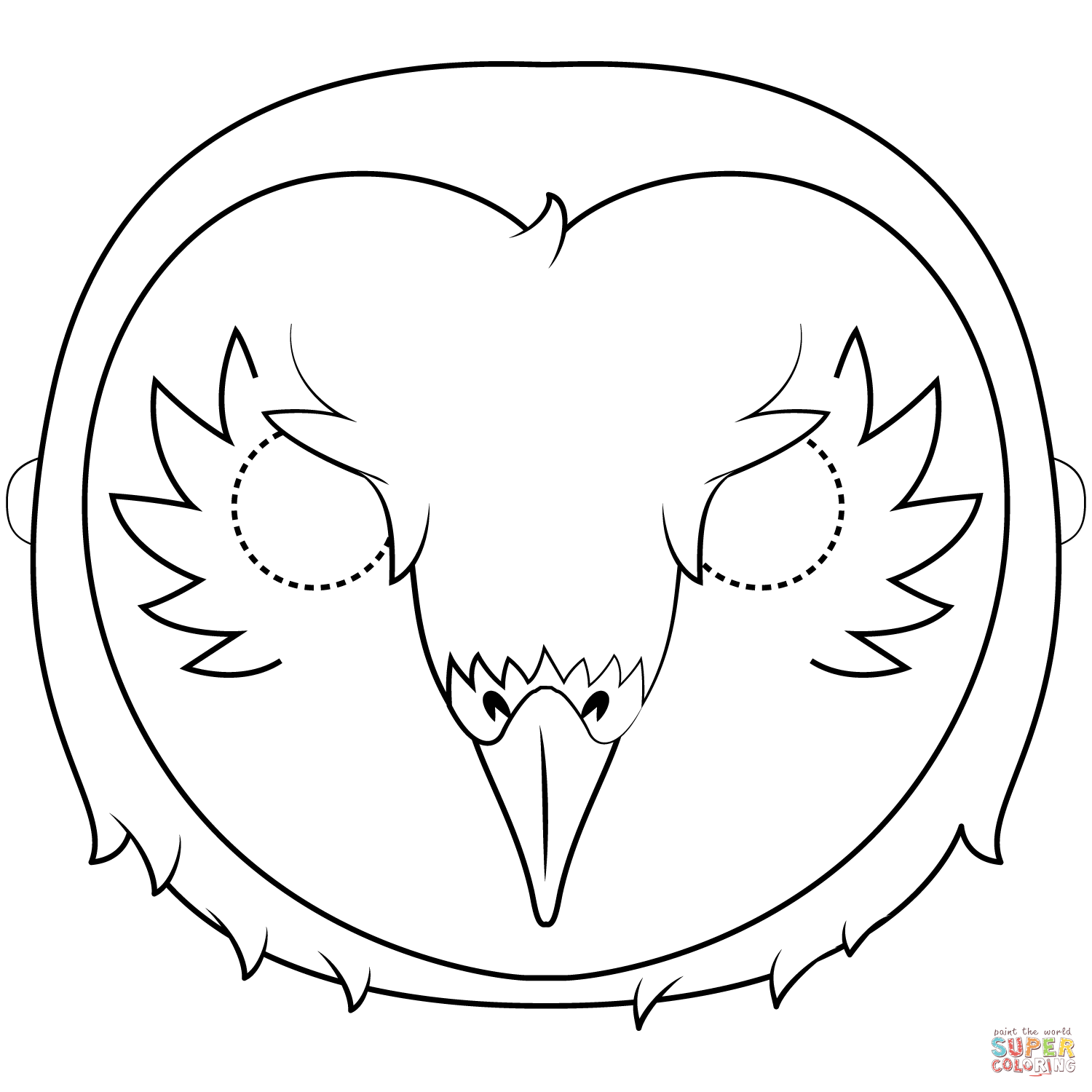 Barn Owl Mask Coloring Page Free Printable Coloring Pages