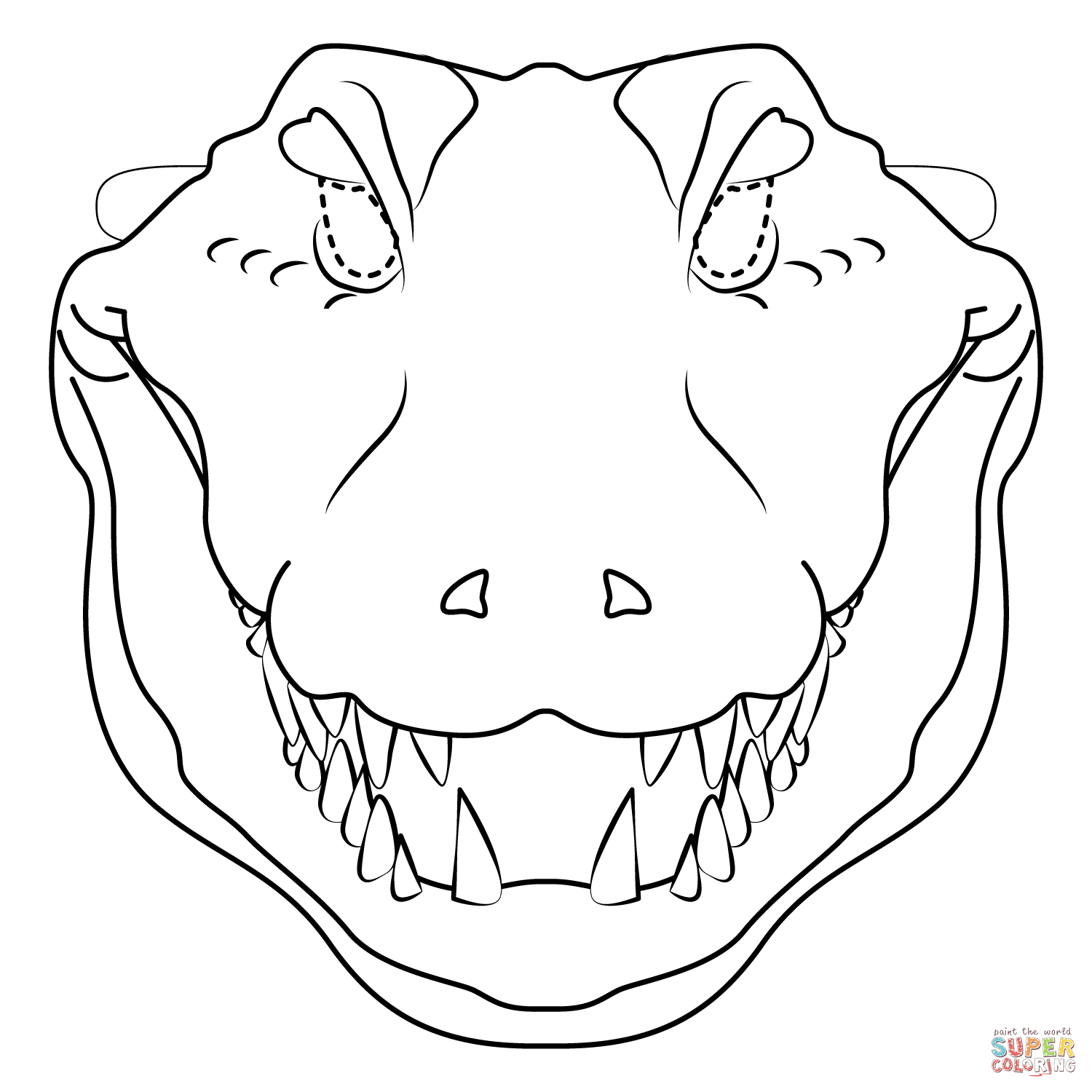 Crocodile Mask Coloring Page