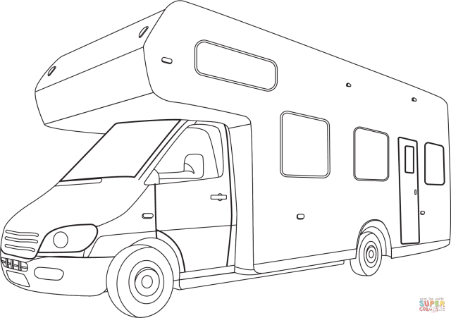 Camper coloring page  Free Printable Coloring Pages