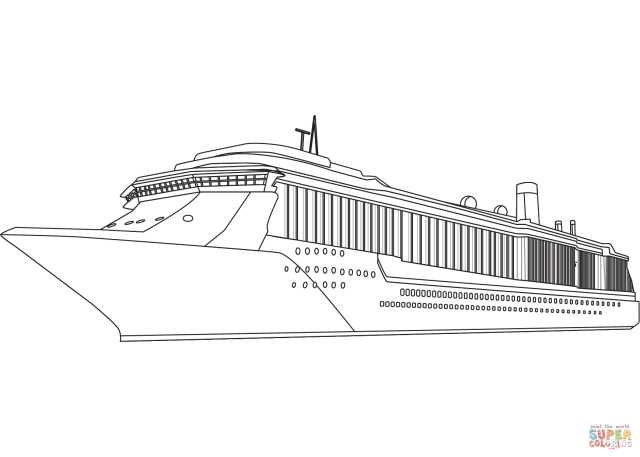 Cruise Ship coloring page  Free Printable Coloring Pages