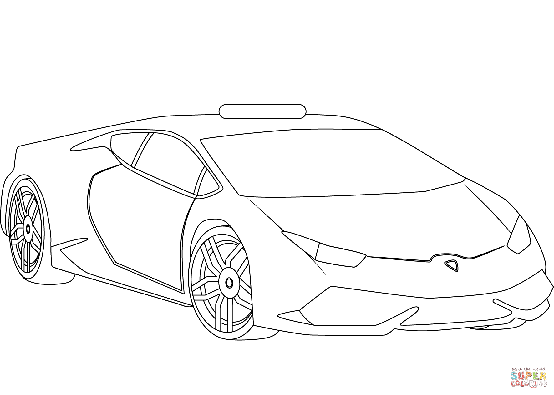 Lamborghini Police Car Coloring Page Free Printable Coloring Pages