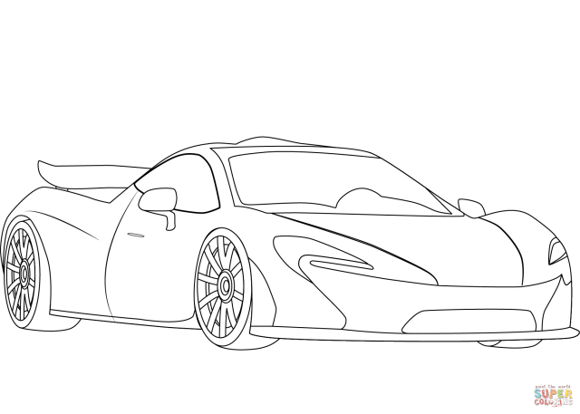 McLaren P24 coloring page  Free Printable Coloring Pages