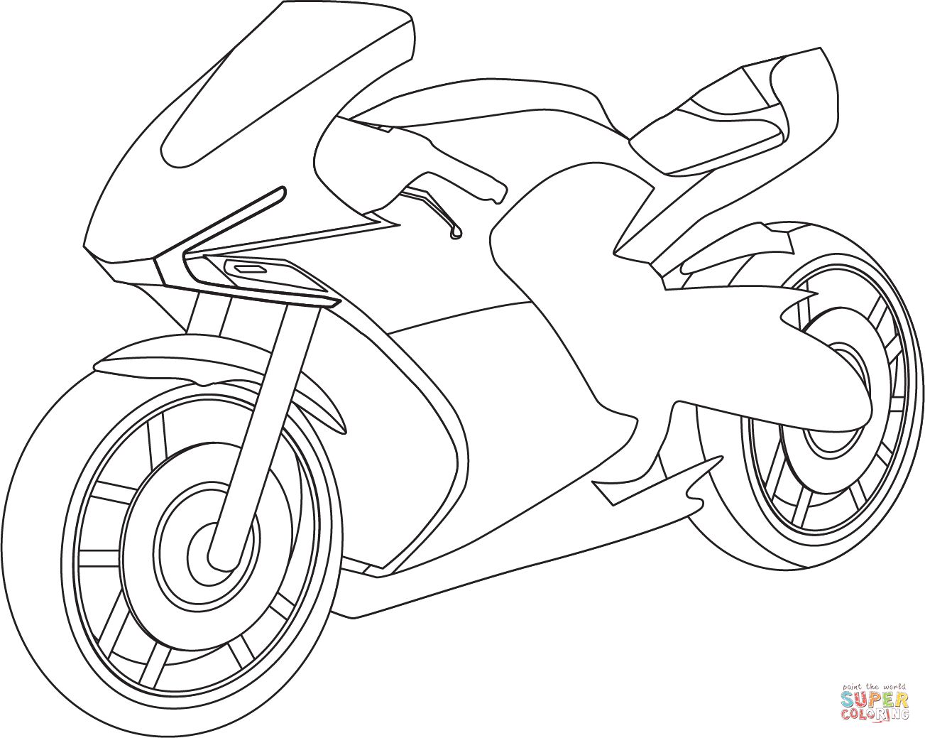 Sport Bike Coloring Page