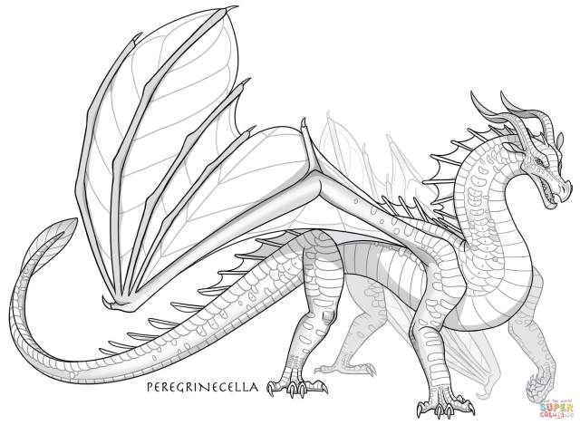 Leafwing Dragon coloring page  Free Printable Coloring Pages