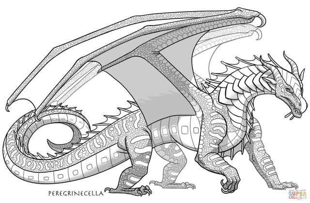 Seawing Dragon coloring page  Free Printable Coloring Pages