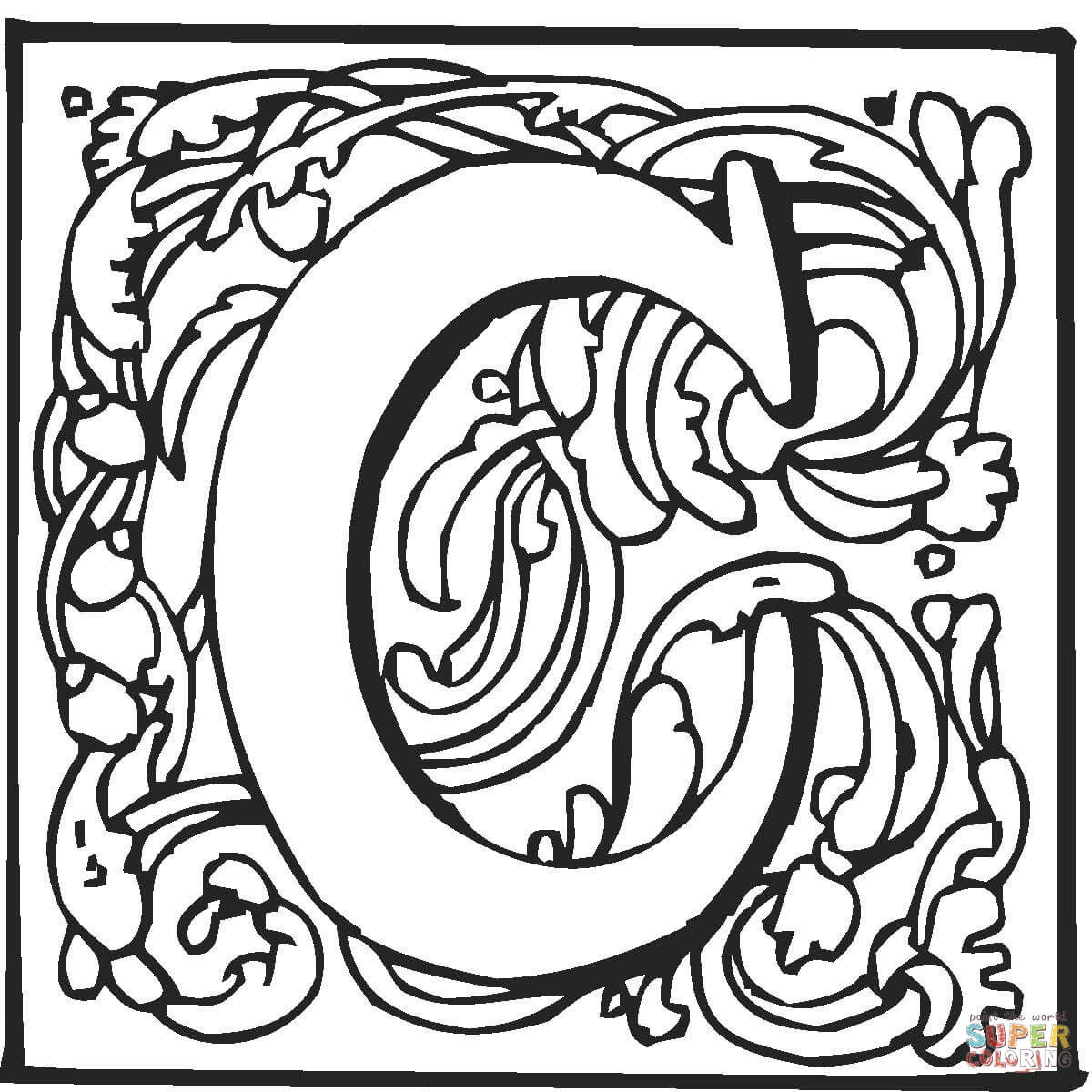 click the letter c coloring page to view printable version or color it