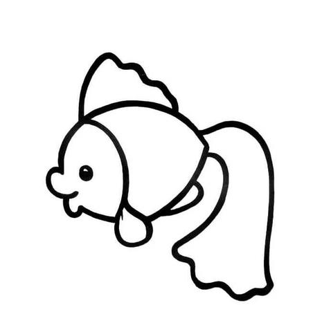 kolorowanka rysunkowa złota rybka kolorowanki dla dzieci do druku
