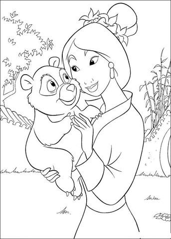 mulan coloring page # 37