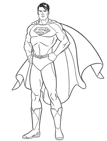 superman coloring page free printable coloring pages