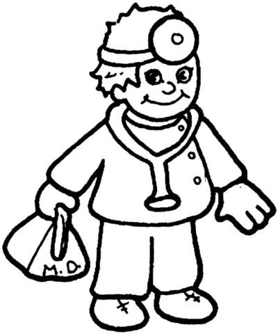 doctor coloring page # 1