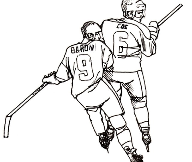Hockey Players Coloring Page Free Printable Coloring Pages