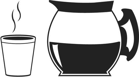 coloriage pot et tasse de café coloriages à imprimer gratuits