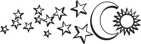dibujo de luna sol y estellas para colorear dibujos para colorear