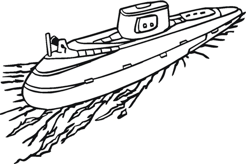 submarine coloring pages # 2