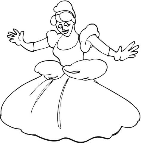 Cinderella Dance Coloring Page Free Printable Coloring Pages