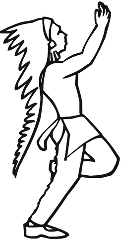 native american dancing coloring page free printable coloring pages