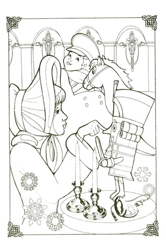 girl with nutcracker coloring page free printable coloring pages