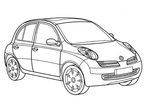 Ausmalbild Nissan Micra Ausmalbilder Kostenlos Zum