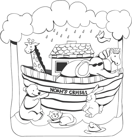 noah and the ark coloring pages # 4