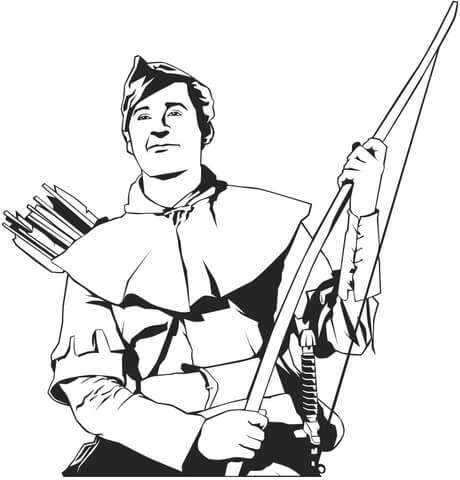 robin hood coloring page free printable coloring pages