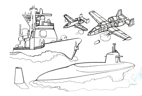 submarine coloring pages # 4