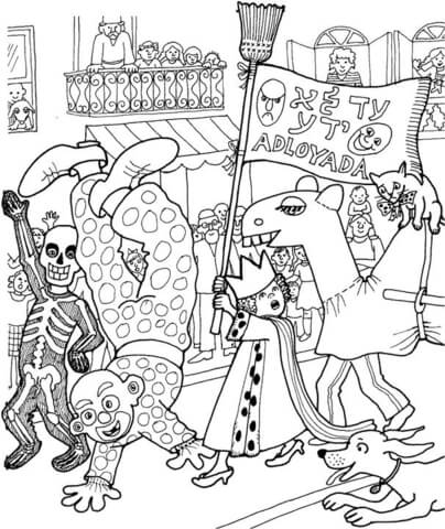 Celebration Of Purim Coloring Page Free Printable