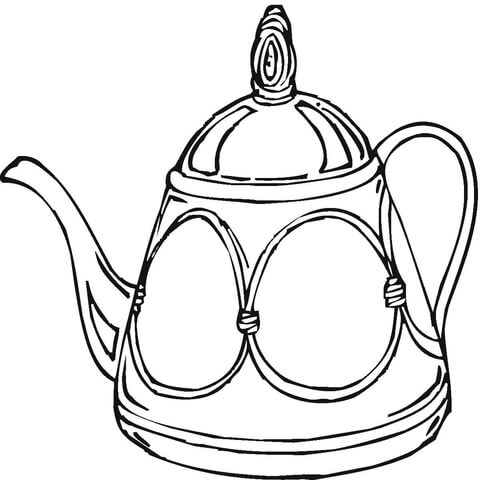 teapot coloring page # 2