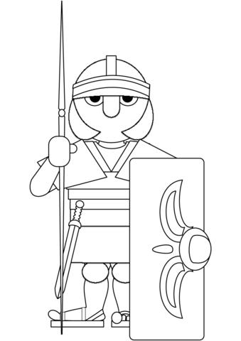 Ausmalbild Rmischer Krieger Ausmalbilder Kostenlos Zum