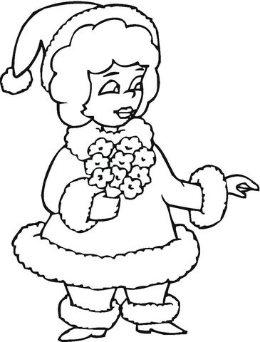 mrs santa coloring page free printable coloring pages