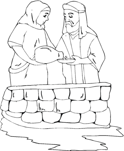 abraham and sarah coloring pages # 7