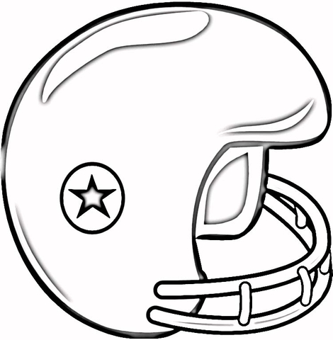 Football Helmet Coloring Page Free Printable Coloring Pages