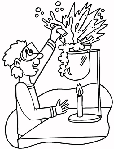 chemistry laboratory coloring page free printable coloring pages