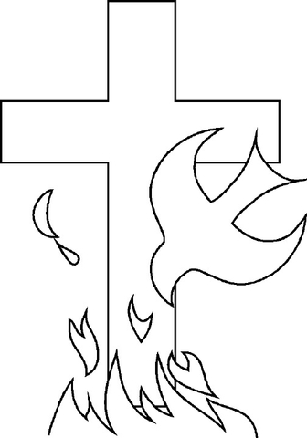 holy spirit coloring pages # 4