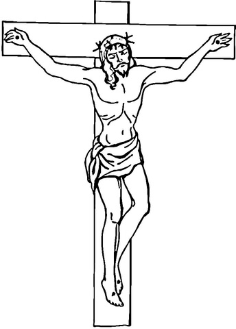 jesus on the cross coloring page # 4