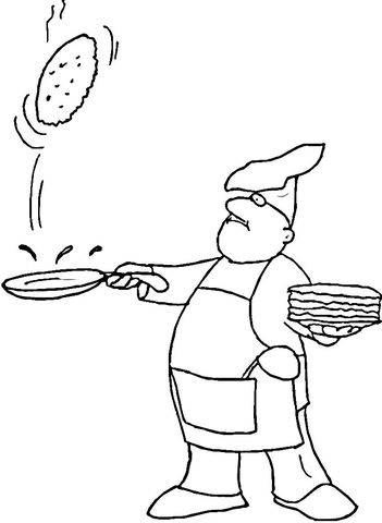 Pancake Coloring Page Free Printable Coloring Pages
