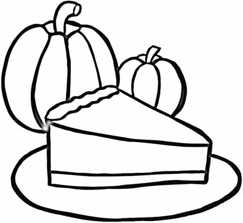 pie coloring page # 10