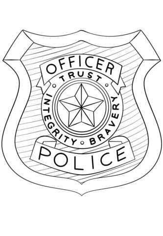 Coloriage Badge De Police Coloriages Imprimer Gratuits