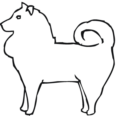 Click To See Printable Version Of Pomeranian Coloring Page