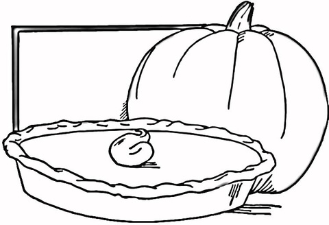 pie coloring page # 4