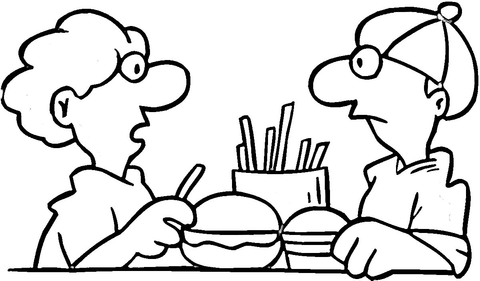 in mcdonalds coloring page free printable coloring pages