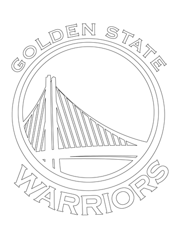 golden state warriors logo coloring page free printable coloring