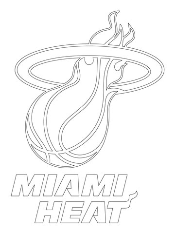 miami heat logo coloring page free printable coloring pages