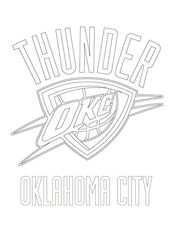 city thunder logo coloring page free printable coloring pages