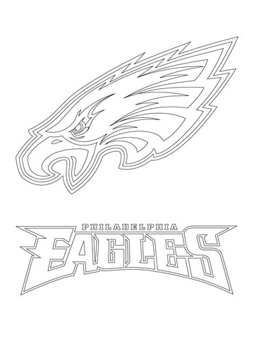 philadelphia eagles logo coloring page free printable coloring pages