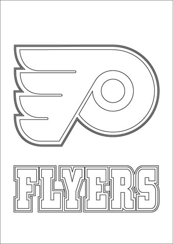 philadelphia flyers logo coloring page free printable coloring pages